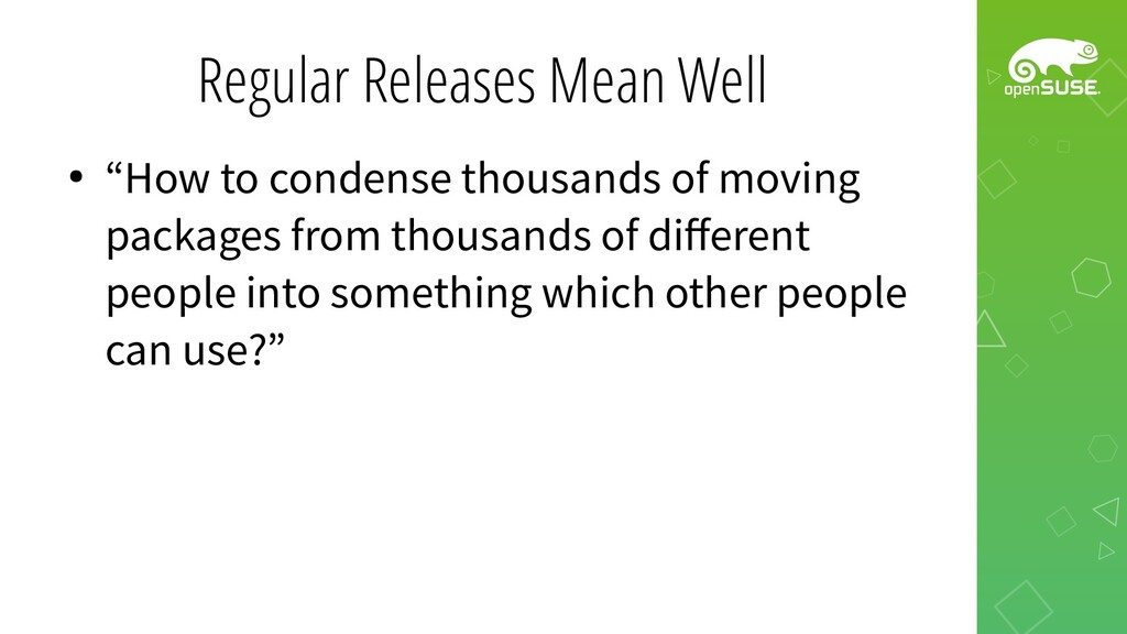 """Regular Releases Mean Well ● """"How to condense t..."""