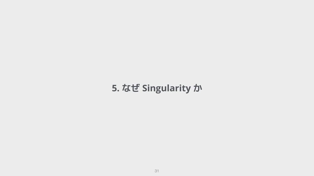 5. なぜ Singularity か !31