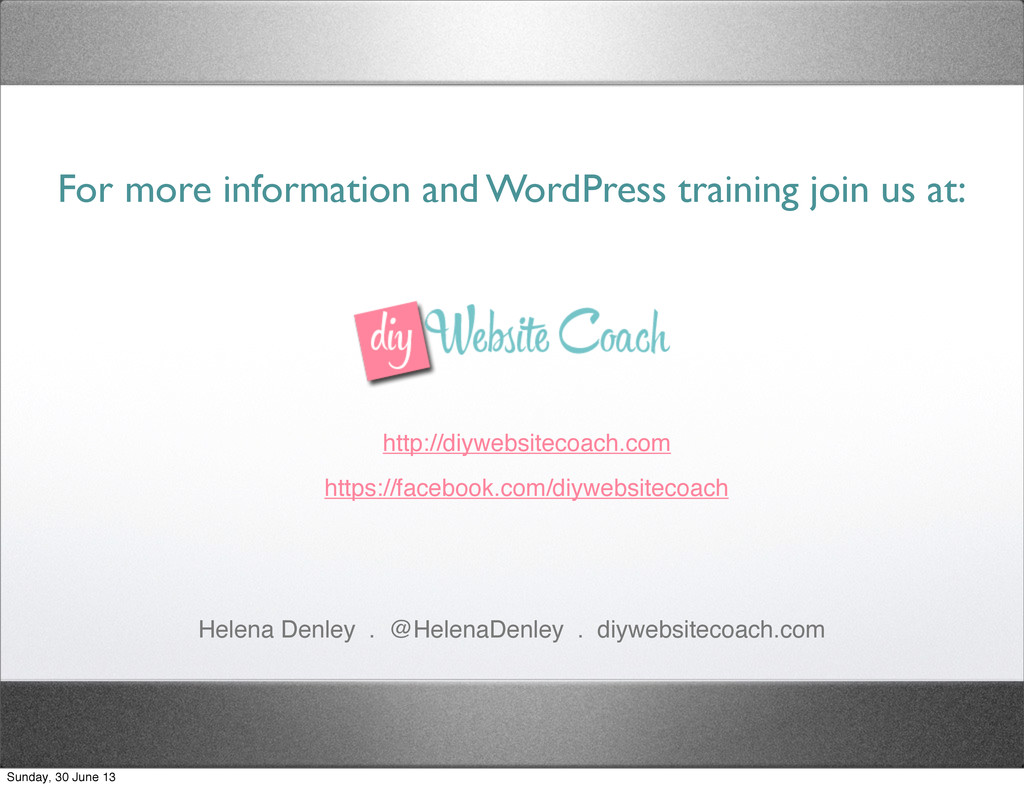 For more information and WordPress training joi...