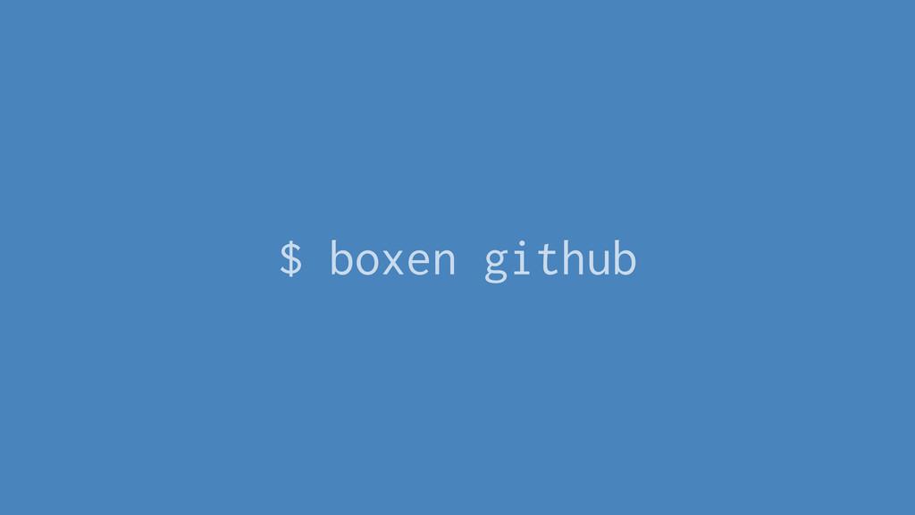 $ boxen github