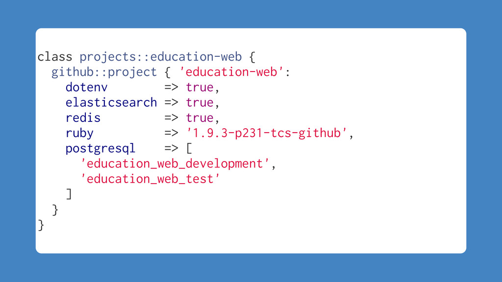 class projects::education-web { github::project...