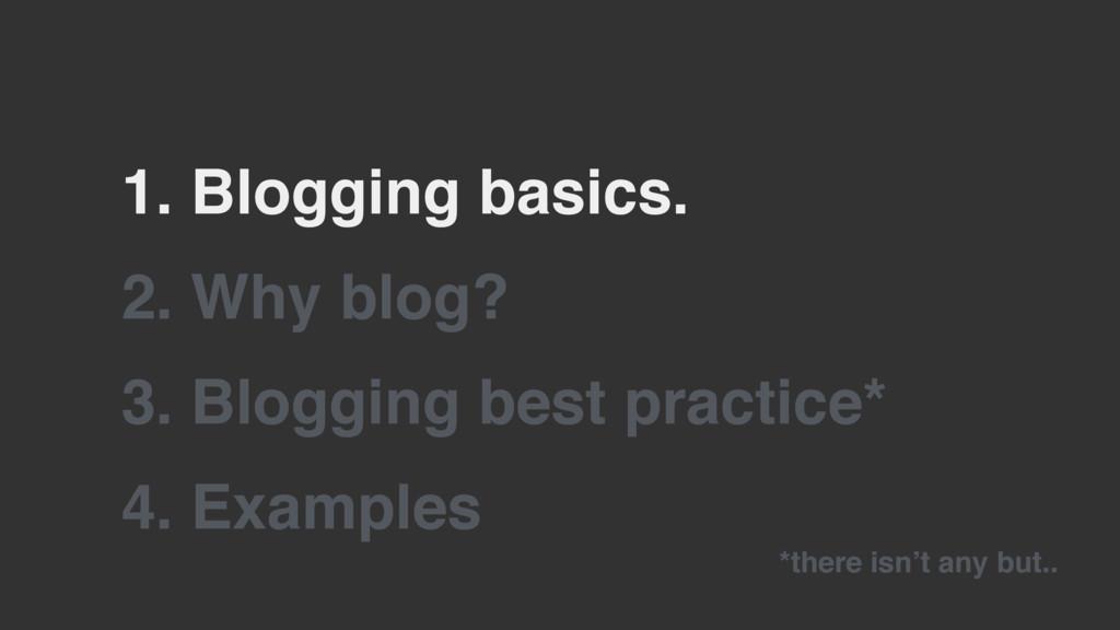 2. Why blog? 3. Blogging best practice* 1. Blog...