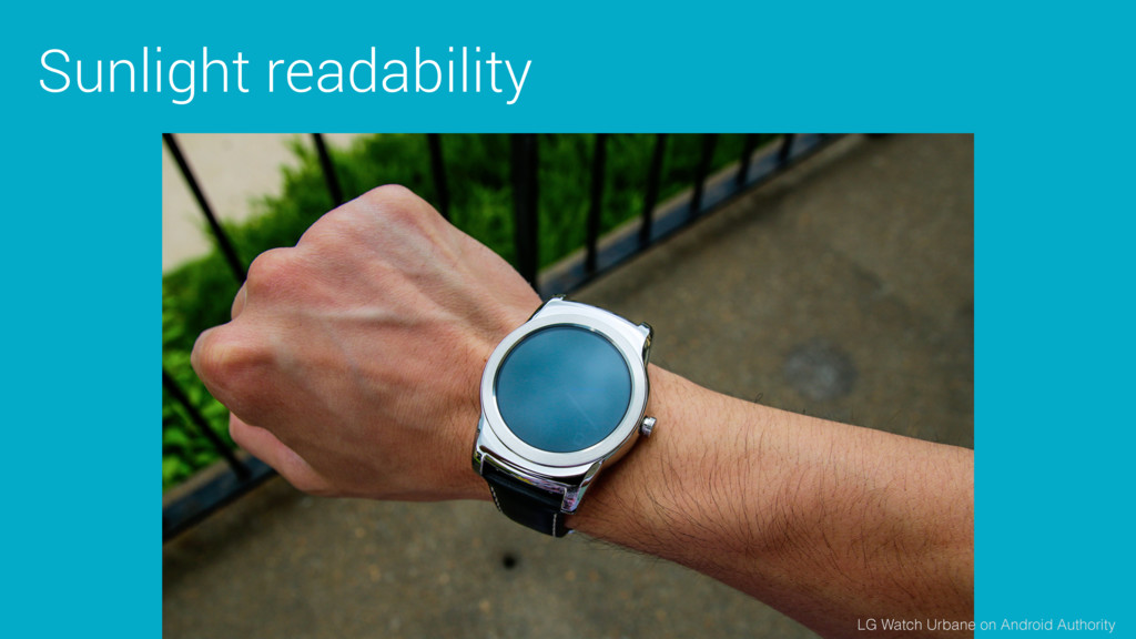 Sunlight readability LG Watch Urbane on Android...