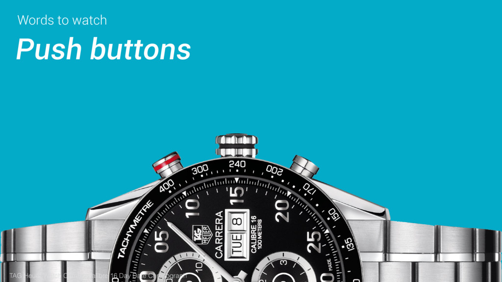 Words to watch Push buttons TAG Heuer Watch Car...