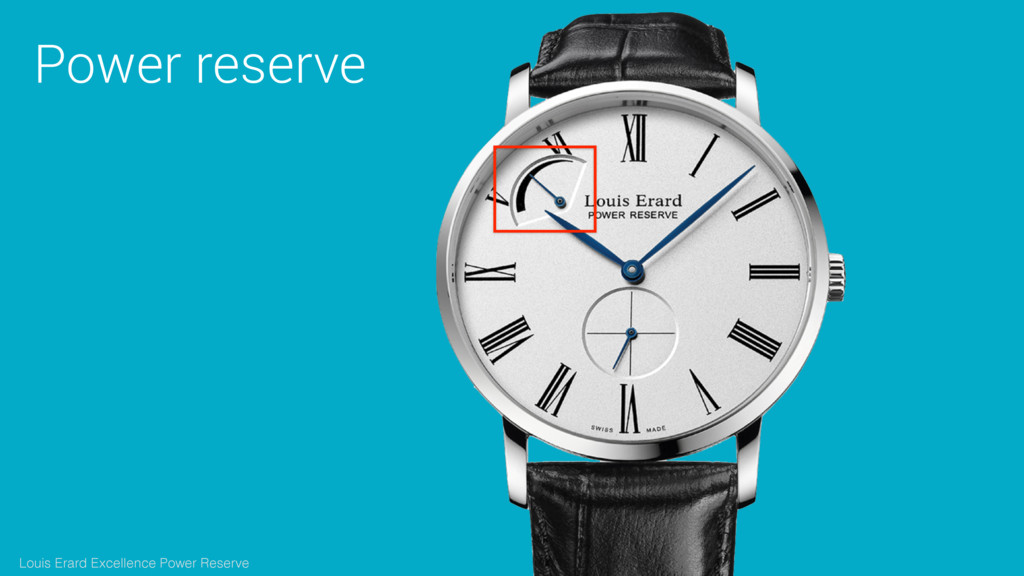 Power reserve Louis Erard Excellence Power Rese...