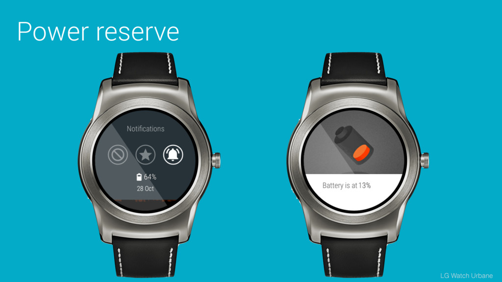 Power reserve LG Watch Urbane