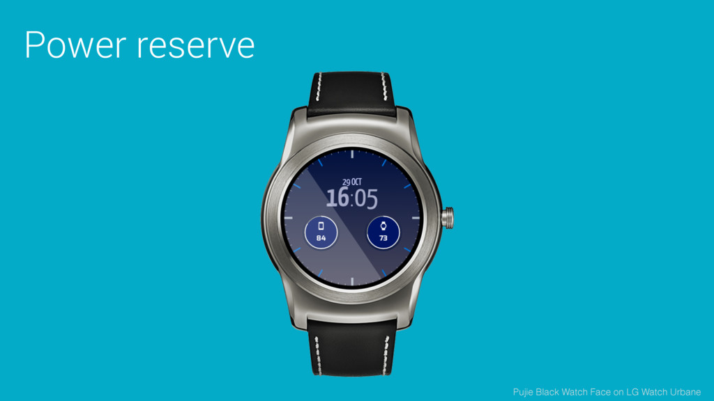 Power reserve Pujie Black Watch Face on LG Watc...