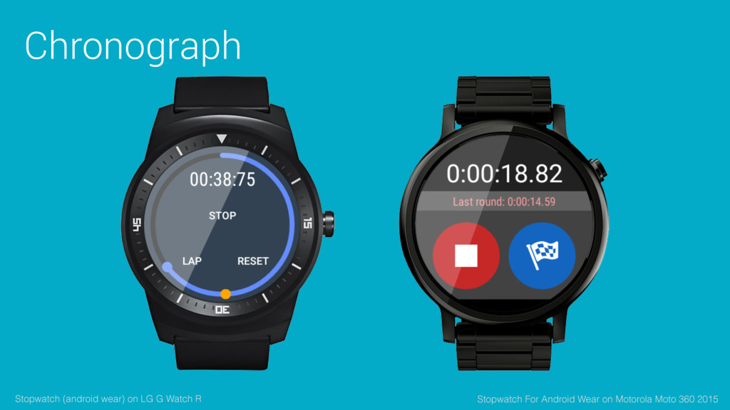 Chronograph Stopwatch (android wear) on LG G Wa...