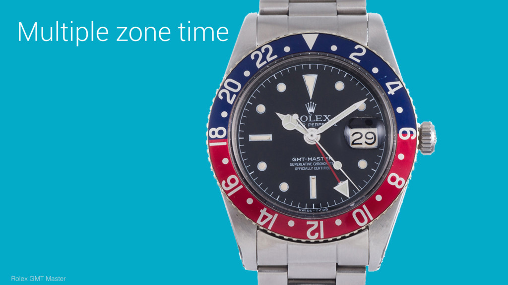 Multiple zone time Rolex GMT Master