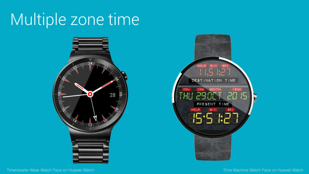 Multiple zone time Time Machine Watch Face on H...