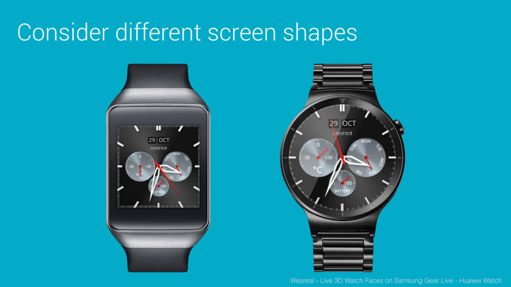 Consider different screen shapes Weareal - Live...