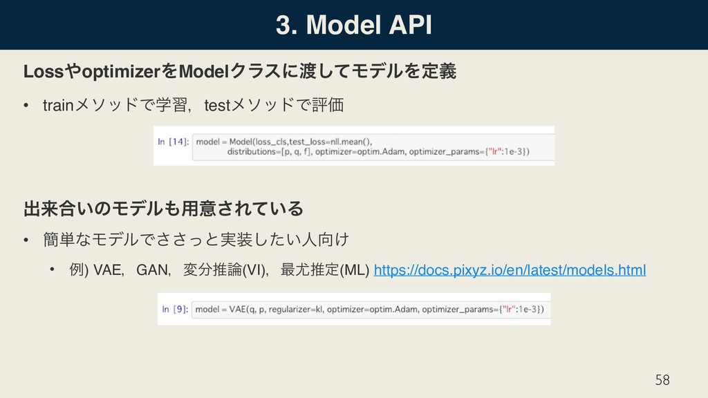 3. Model API Loss΍optimizerΛModelΫϥεʹ౉ͯ͠ϞσϧΛఆٛ ...