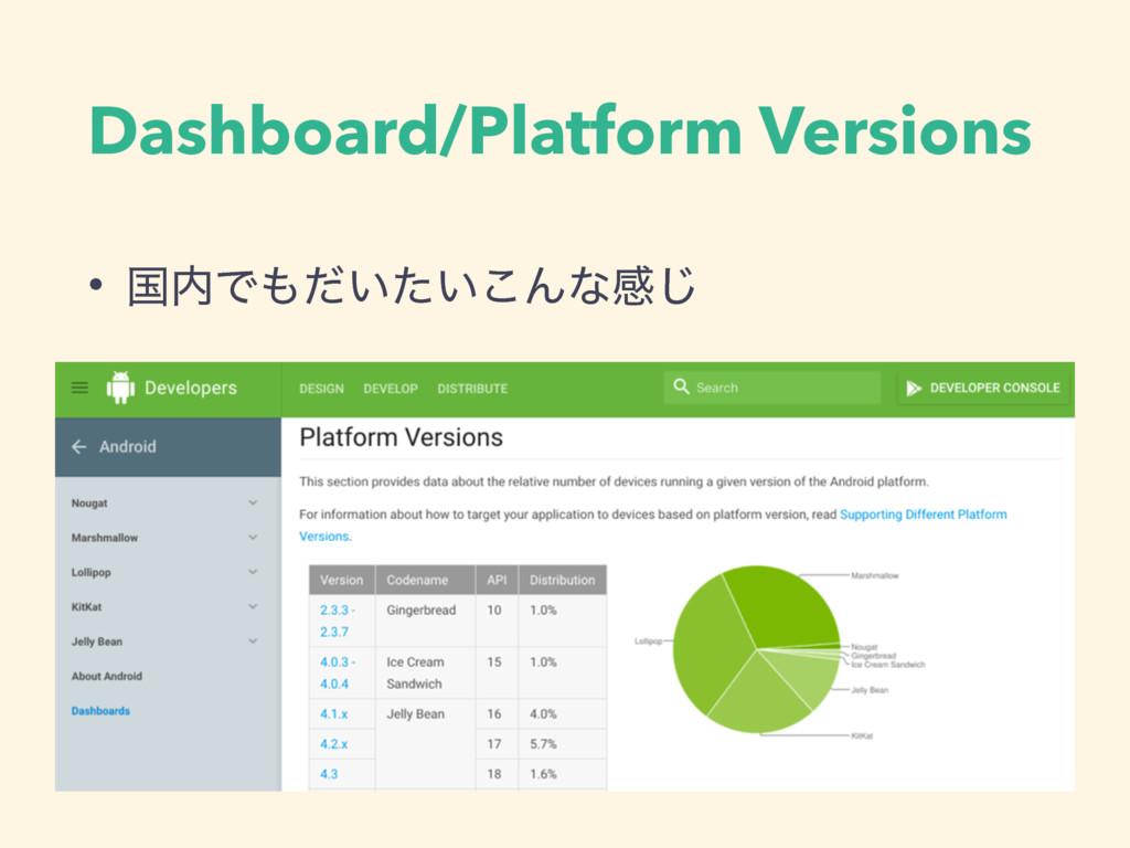 Dashboard/Platform Versions • ࠃͰ͍͍ͩͨ͜Μͳײ͡