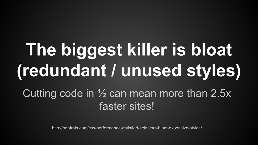 Cutting code in ½ can mean more than 2.5x faste...