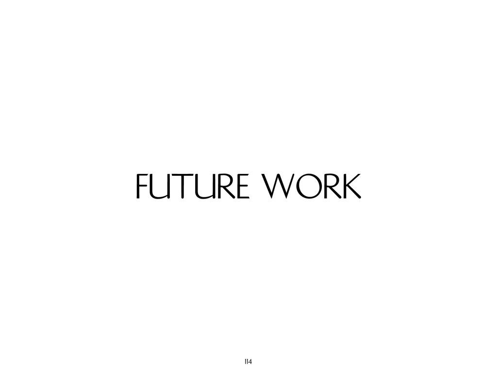 FUTURE WORK 114