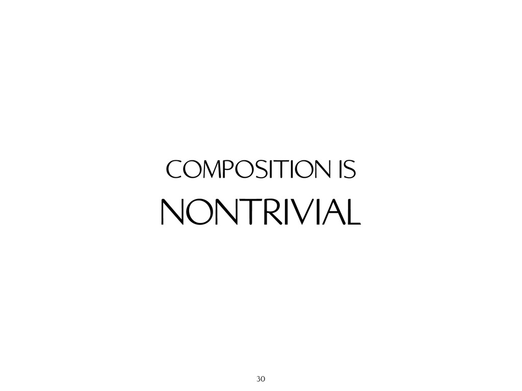 NONTRIVIAL COMPOSITION IS 30