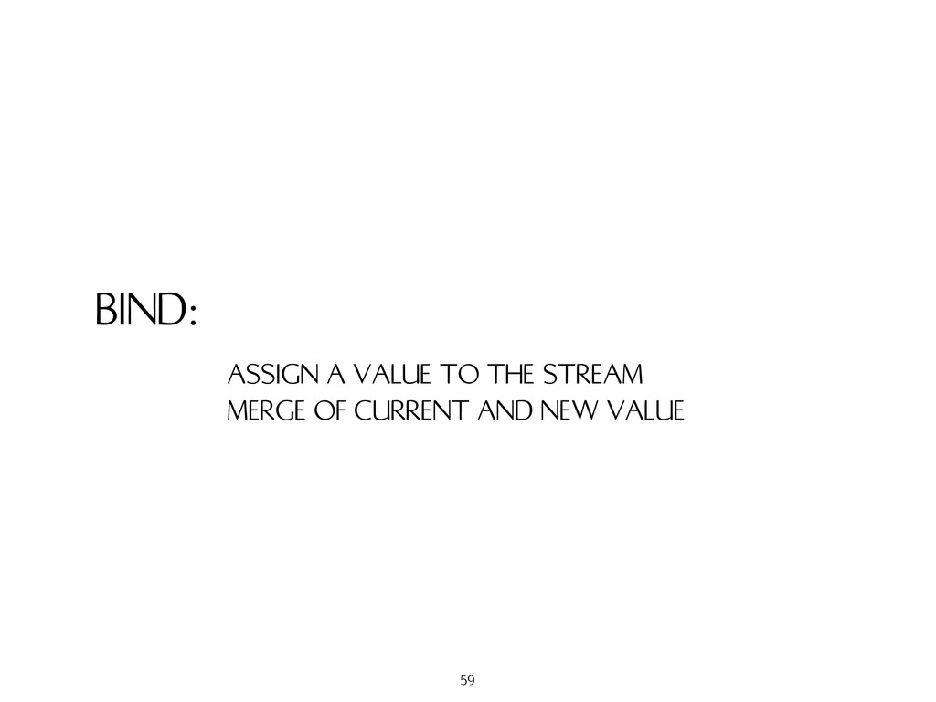 BIND: ASSIGN A VALUE TO THE STREAM MERGE OF CUR...