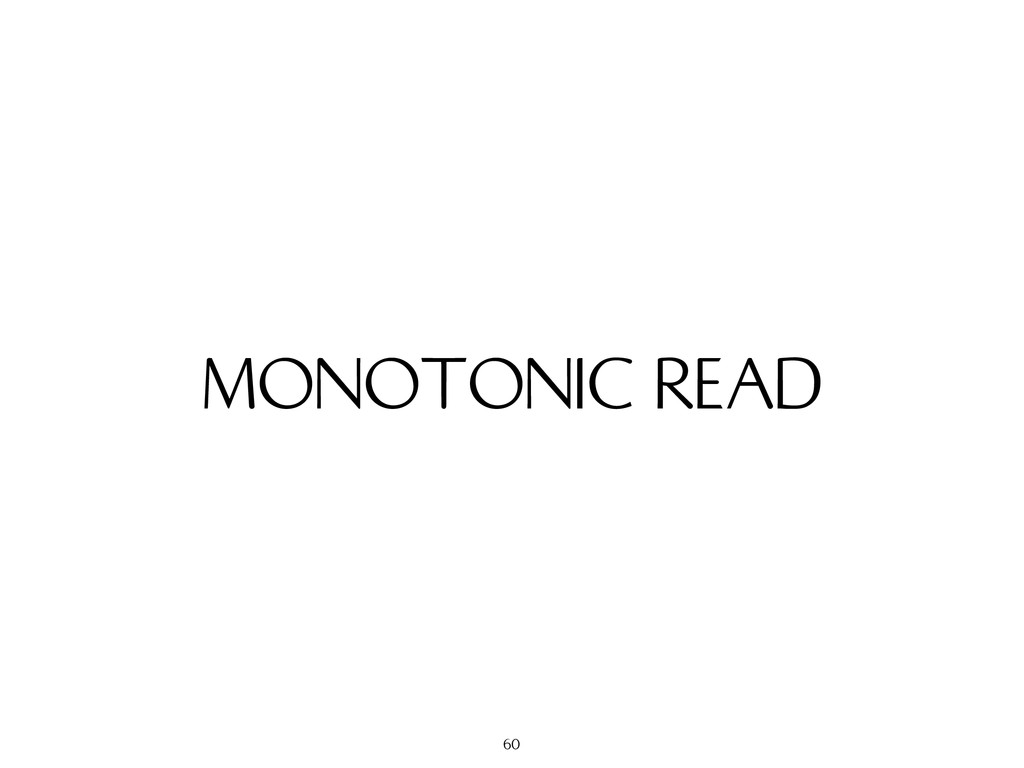 MONOTONIC READ 60