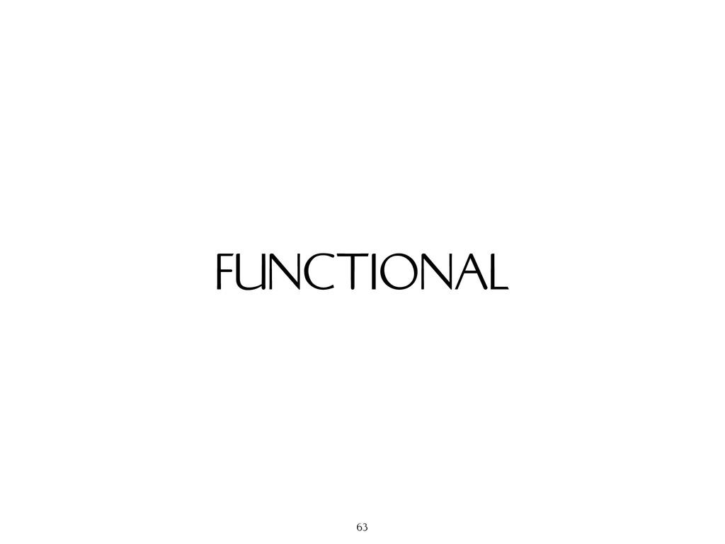 FUNCTIONAL 63