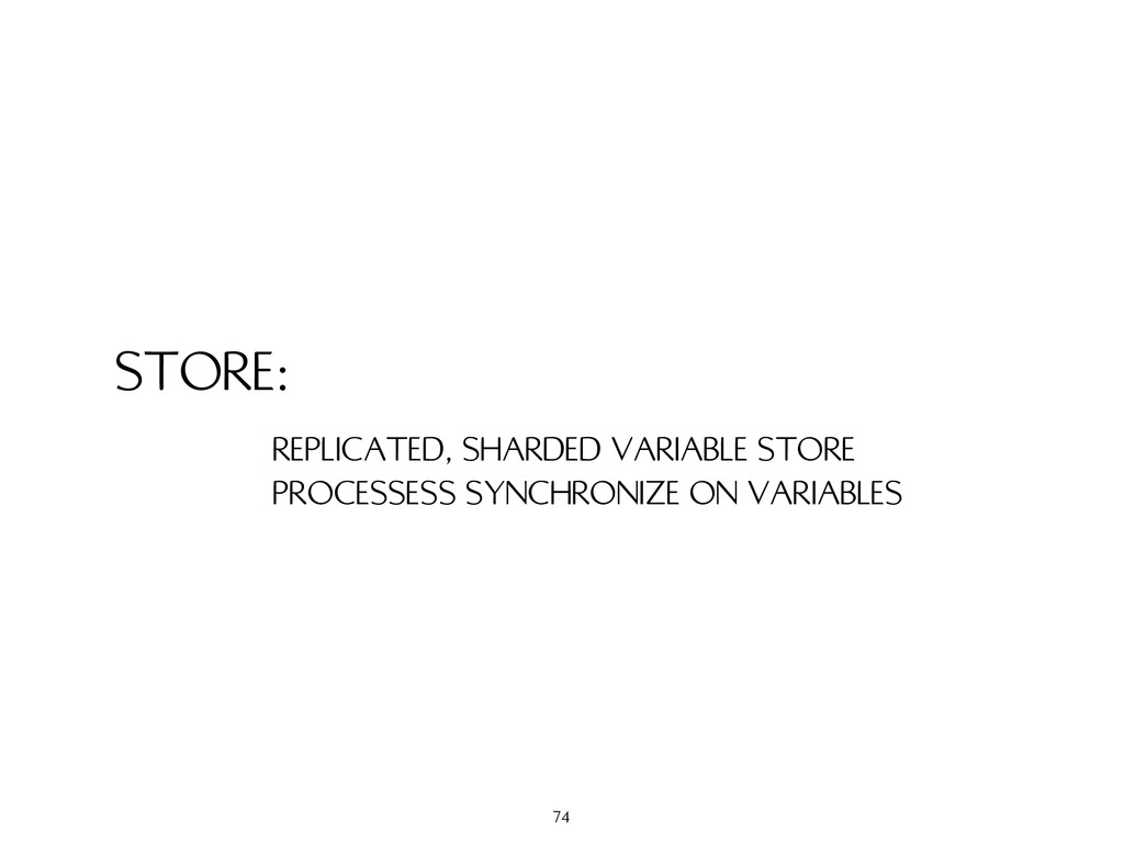 STORE: REPLICATED, SHARDED VARIABLE STORE PROCE...