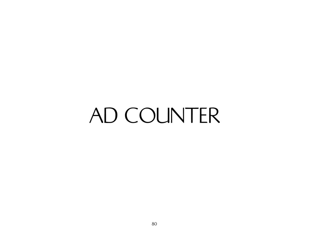 AD COUNTER 80