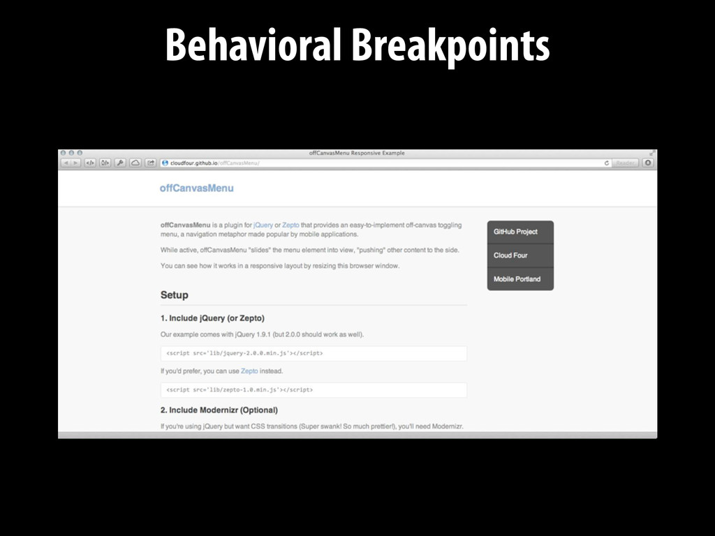 Behavioral Breakpoints