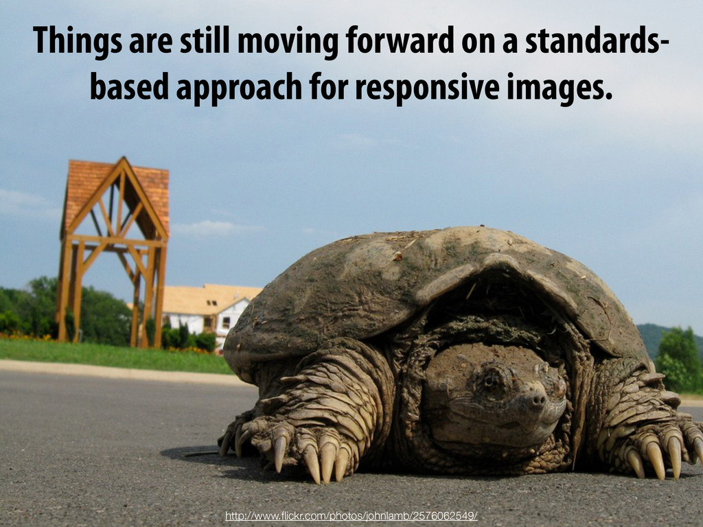 Things are still moving forward on a standards-...