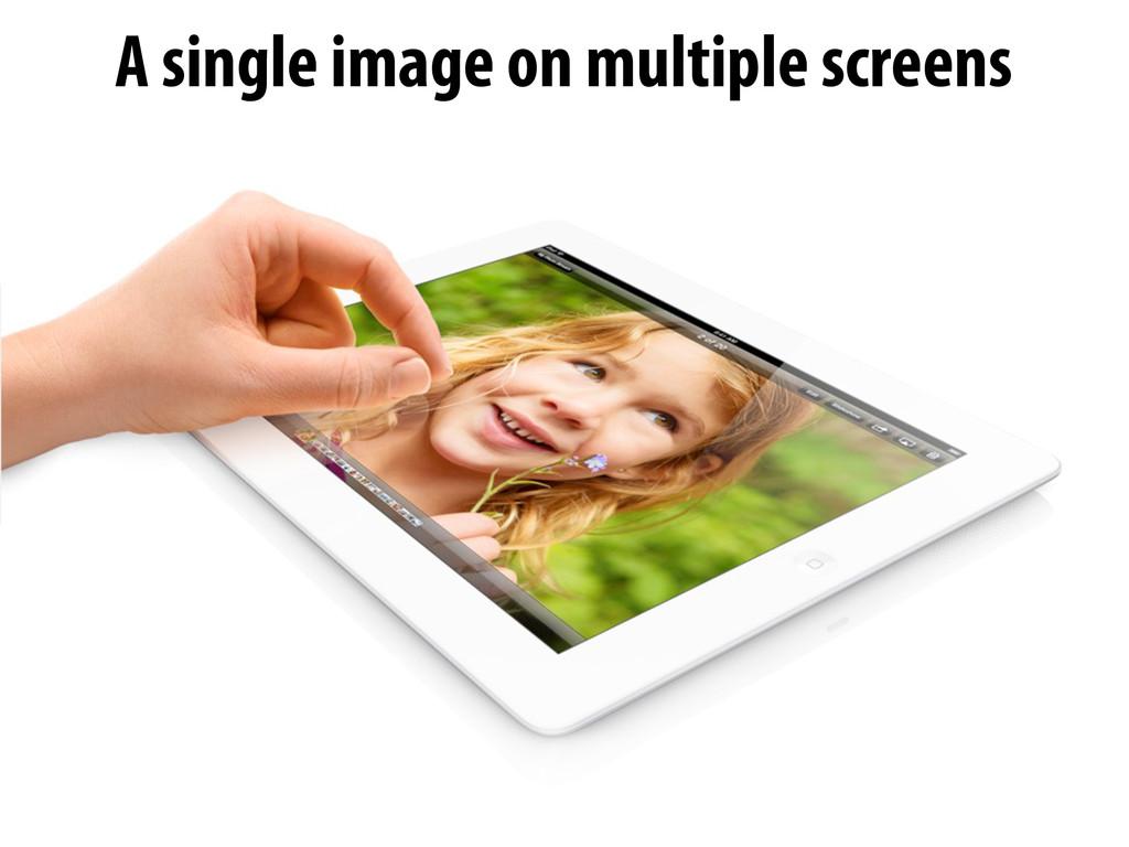 A single image on multiple screens