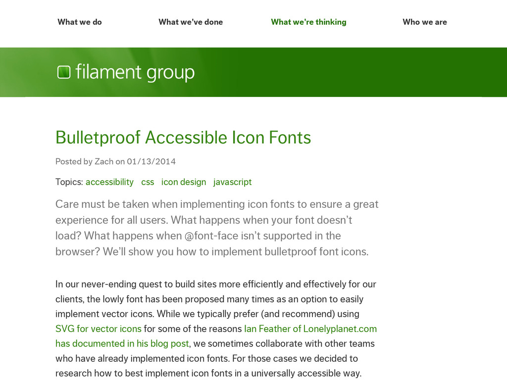 Topics: accessibility css icon design javascrip...