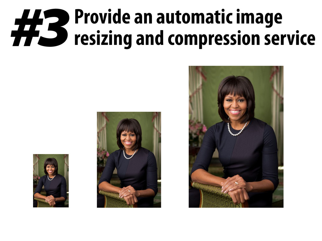 #3 Provide an automatic image resizing and comp...