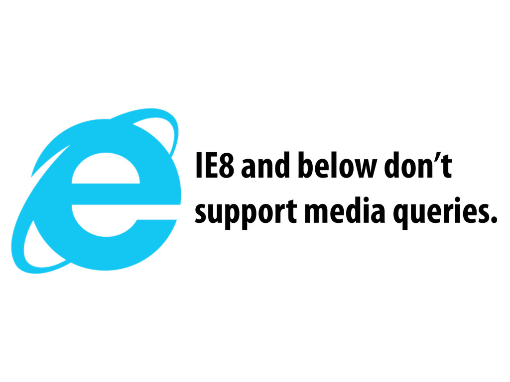 IE8 and below don't support media queries.