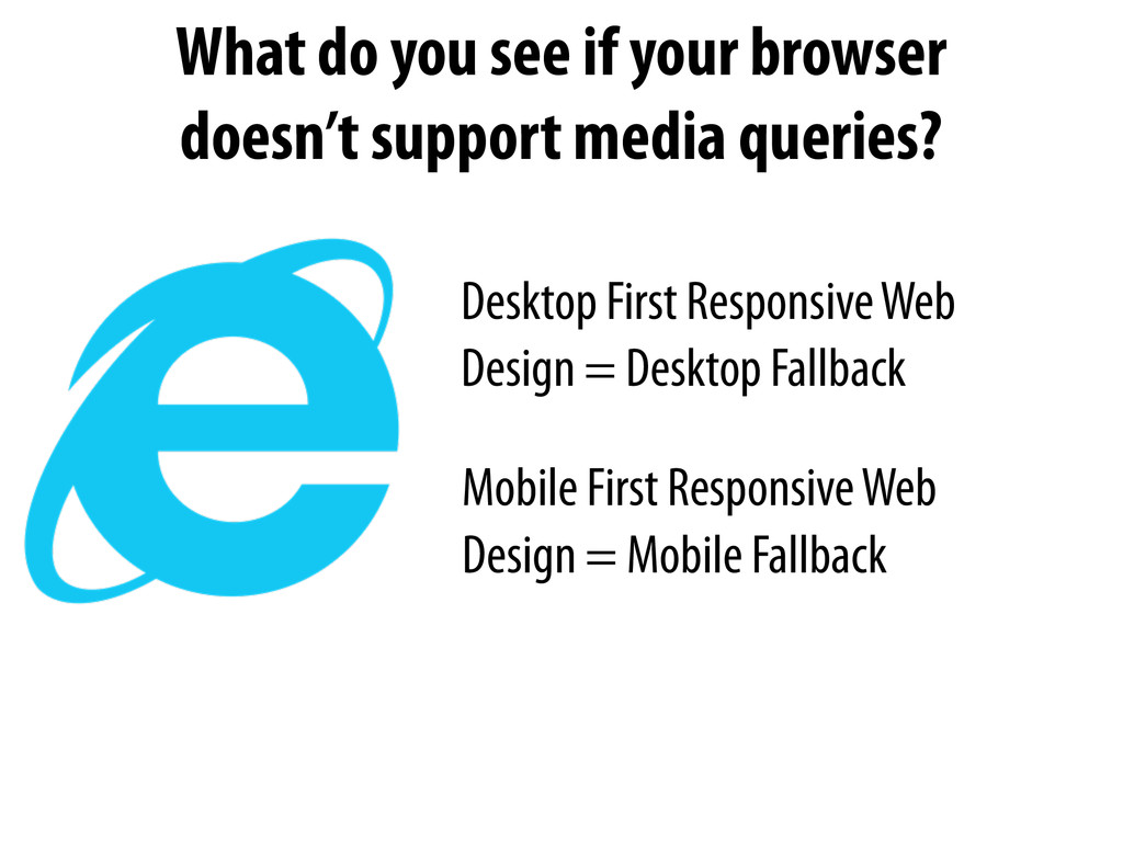 Desktop First Responsive Web Design = Desktop F...