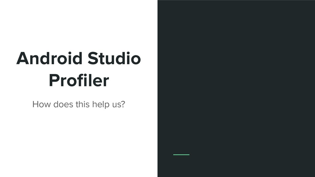 Android Studio Profiler How does this help us?
