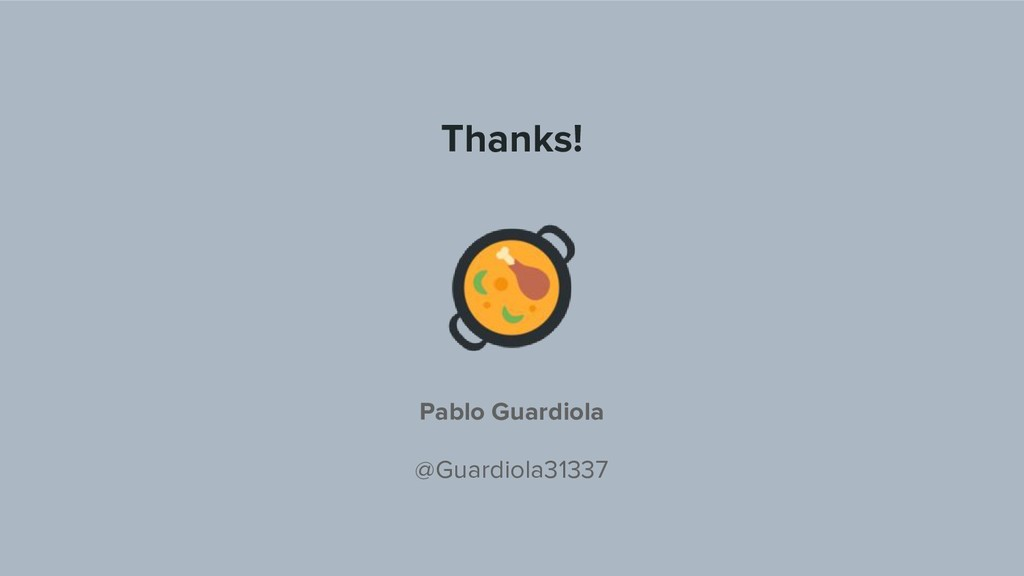 Thanks! Pablo Guardiola @Guardiola31337