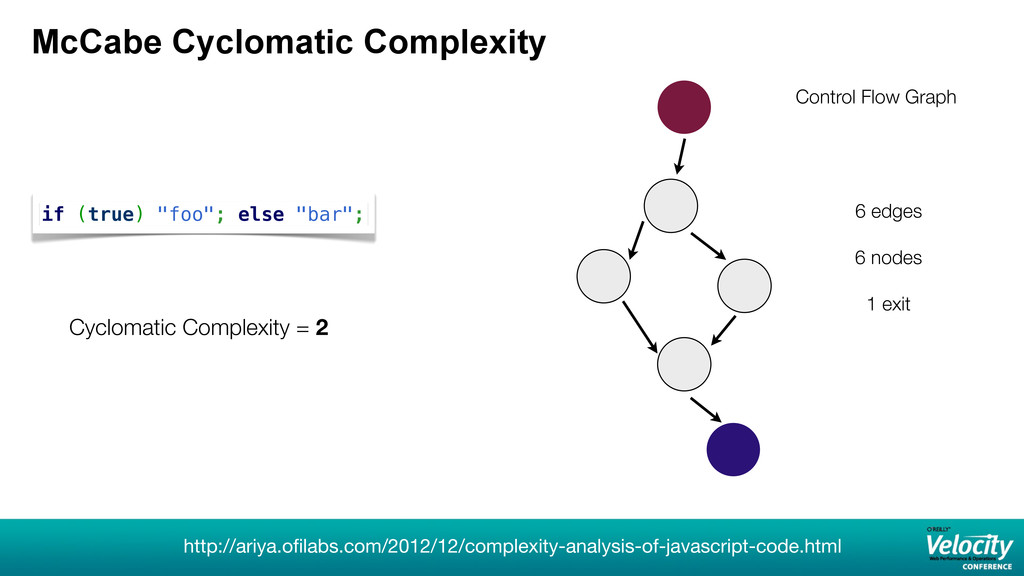 "McCabe Cyclomatic Complexity if (true) ""foo""; e..."