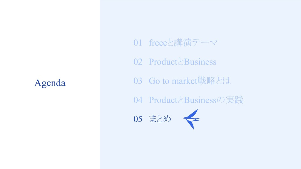 19 01 freeeと講演テーマ 02 ProductとBusiness 03 Go to ...
