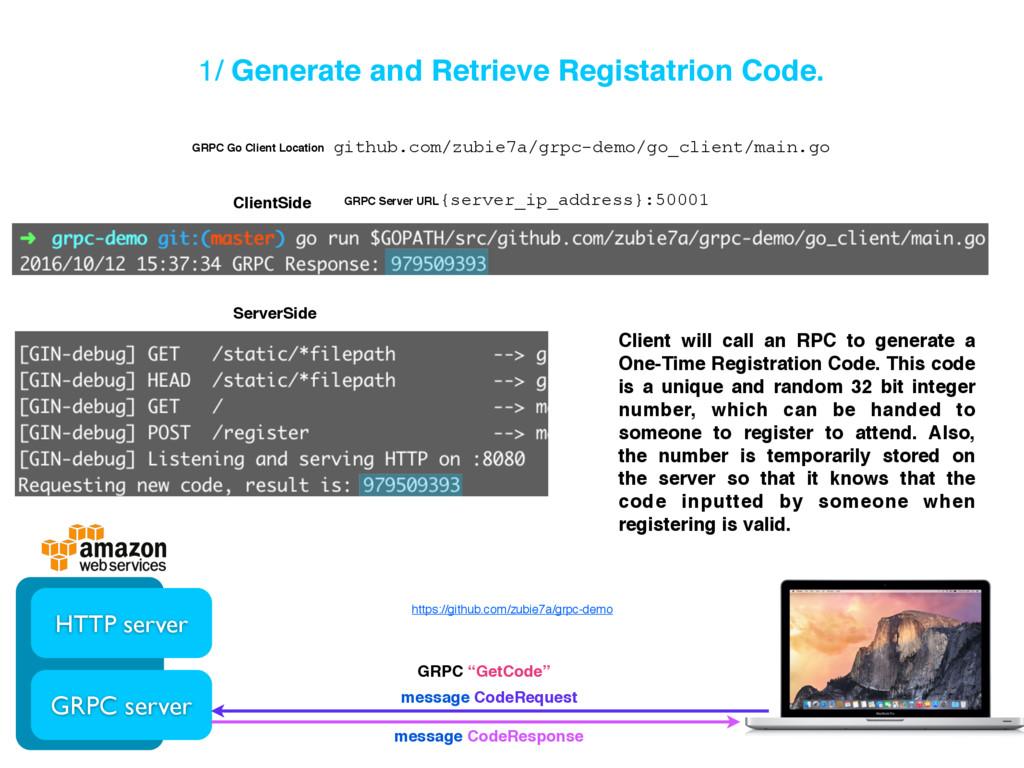 1/ Generate and Retrieve Registatrion Code. HTT...