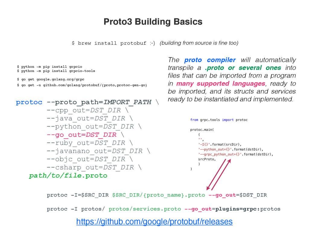 https://github.com/google/protobuf/releases pro...