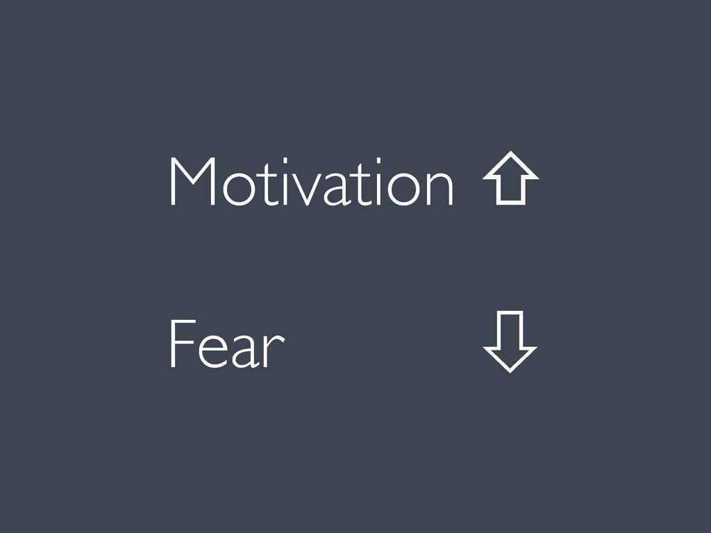 Fear ꔅ Motivation ⇧
