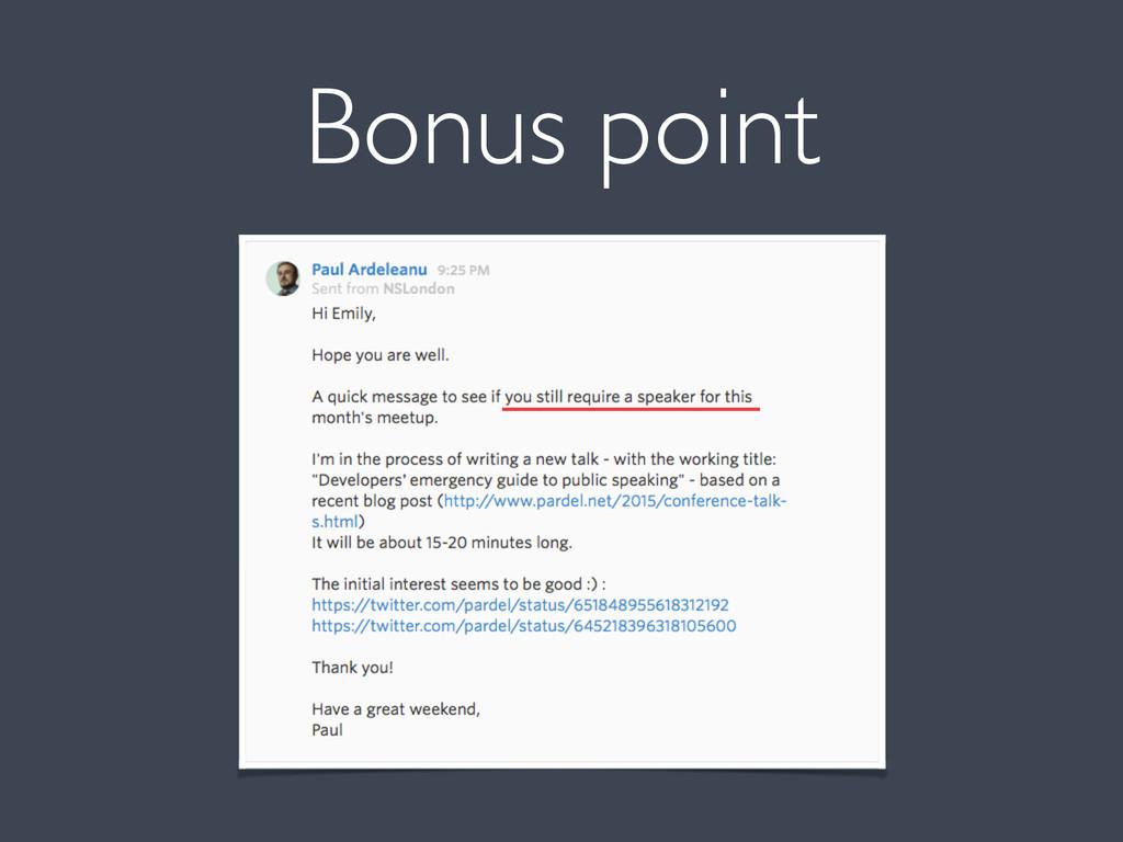 Bonus point