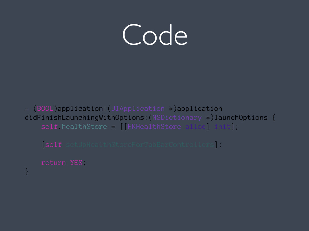 Code - (BOOL)application:(UIApplication *)appli...