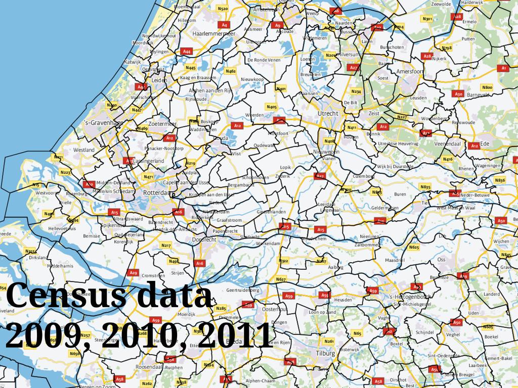 Census data 2009, 2010, 2011