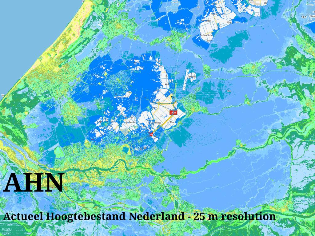AHN Actueel Hoogtebestand Nederland - 25 m reso...