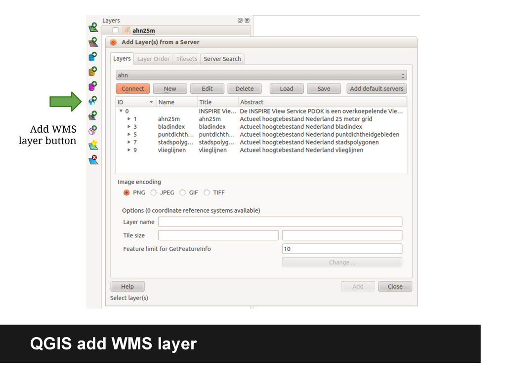 QGIS add WMS layer QGIS add WMS layer Add WMS l...