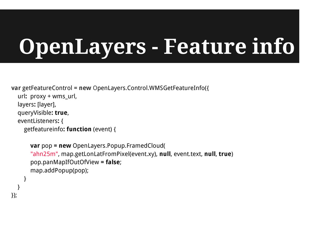OpenLayers - Feature info var getFeatureControl...