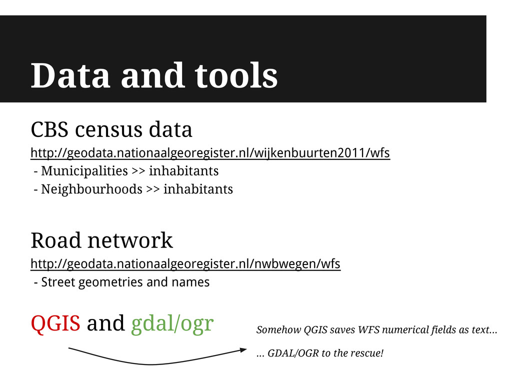 Data and tools CBS census data http://geodata.n...