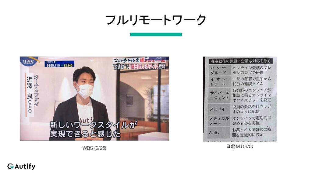 フルリモートワーク 日経MJ(6/5) WBS (6/25)
