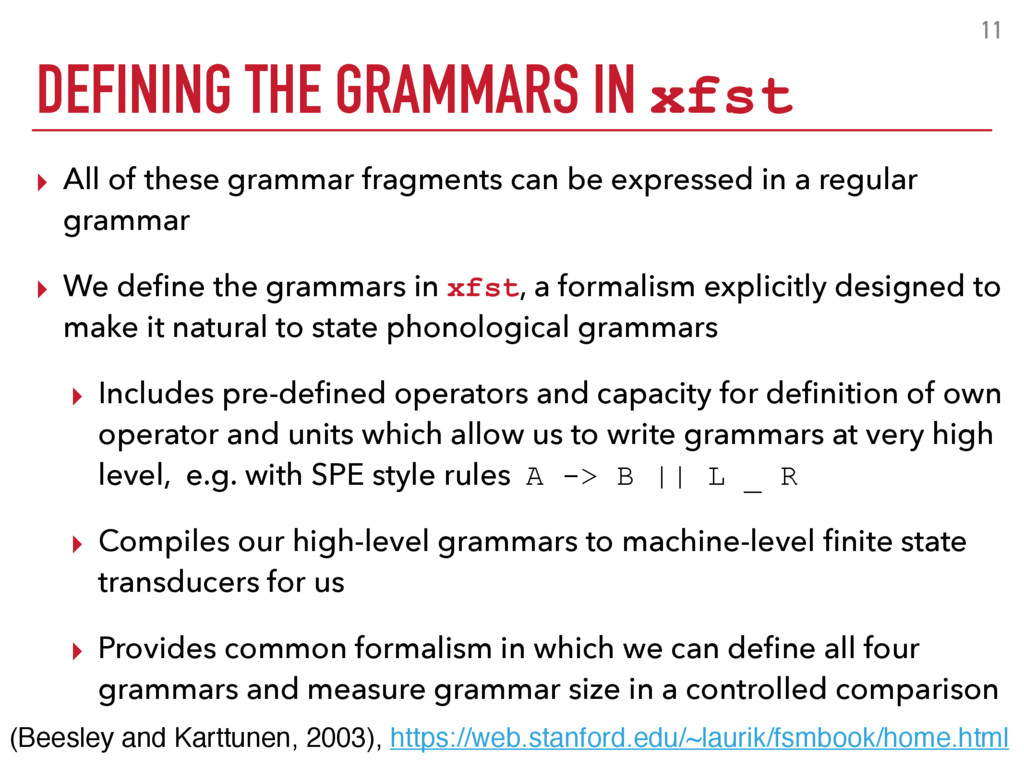 11 ▸ All of these grammar fragments can be expr...