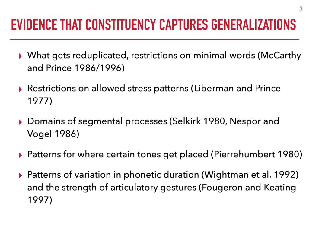 EVIDENCE THAT CONSTITUENCY CAPTURES GENERALIZAT...