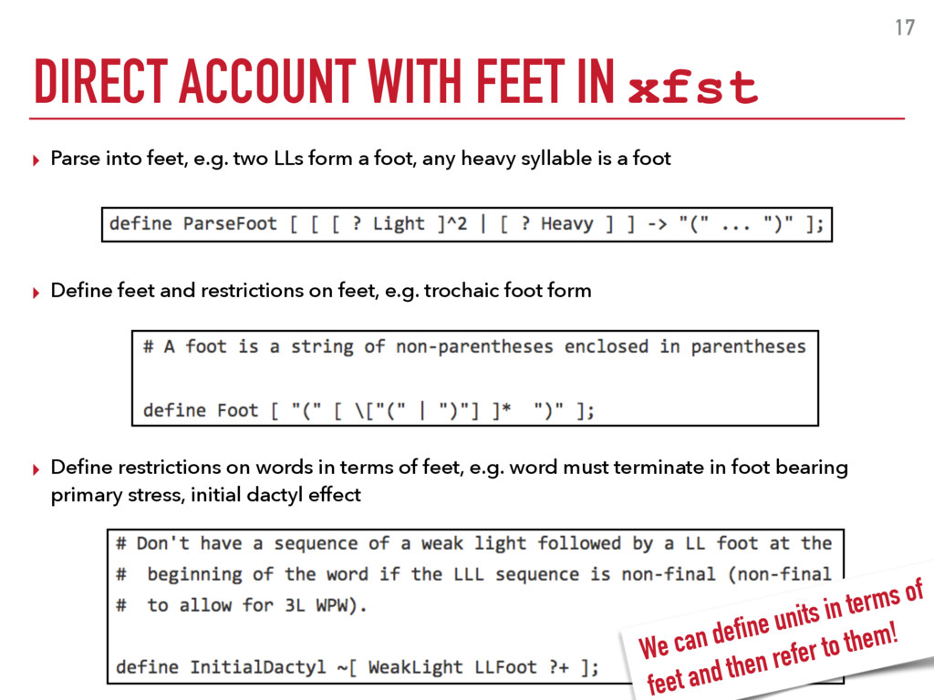 ▸ Parse into feet, e.g. two LLs form a foot, an...
